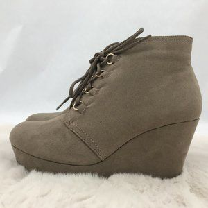 JustFab Grette Booties: Taupe | Size 8